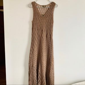 Tommy Bahama taupe crochet midi dress size large